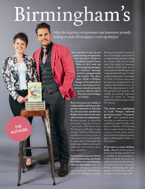 Ben and Jodie Cook in Style Birmingham magazine