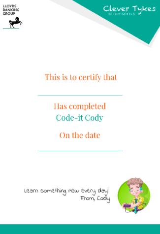 Cody certificate thumbnail